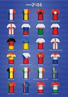 Set of soccer jerseys