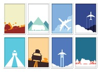 Set of traveling posters