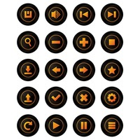 Set of web buttons icon