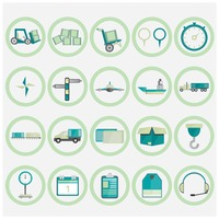 Shipping and logistic icons collection