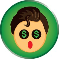 character characters smiley emoticon dollar sign holding