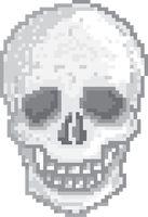 Pixel art skull Vector Image