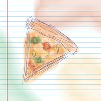 Slice of pizza sketch