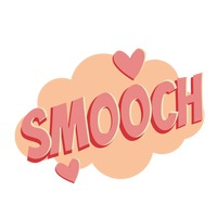 Smooch comic speech bubble