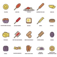 South korea food icons