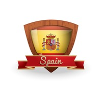 Spain flag label