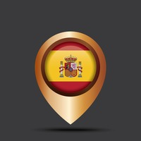 Spain map pointer
