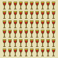 Spain wine glasses pattern background