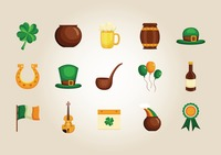 St patrick's day icons collection