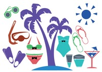 Summer collection icons