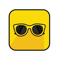 Sunglasses on yellow back ground