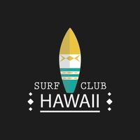 Surf club wallpaper