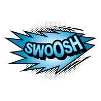 Swoossh comic speech bubble