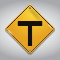 T intersection warning sign
