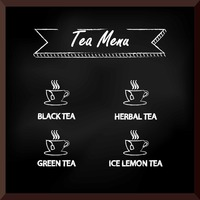 Tea menu design