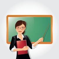 Teacher holding book