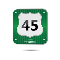 Tennessee forty five road sign