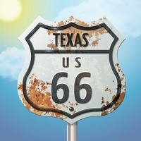 Texas 66 route sign