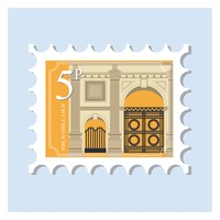 The marble arch postage stamp