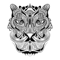 Tiger monochrome design