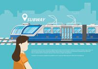Travel concept with subway