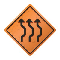 Triple reverse curve sign