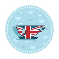 Uk tea cup sticker