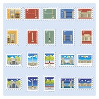 United kingdom historical postage stamp collection