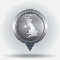 United kingdom map navigation pointer