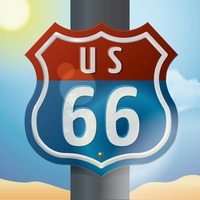 Us 66 route sign