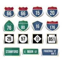 Usa road sign collection