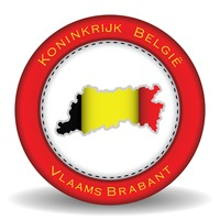 Vlaams brabant map sticker