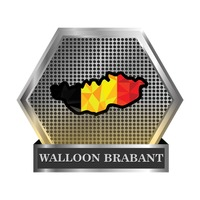 Walloon brabant map