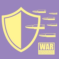 War concept with bullets
