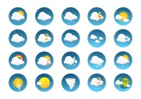 Weather type icon set
