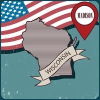 Wisconsin map label