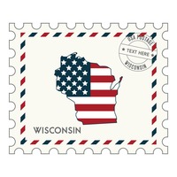 Wisconsin postage stamp