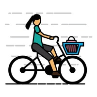 Woman riding cycle