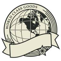 World class goods label