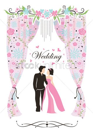 Romantic : A wedding card