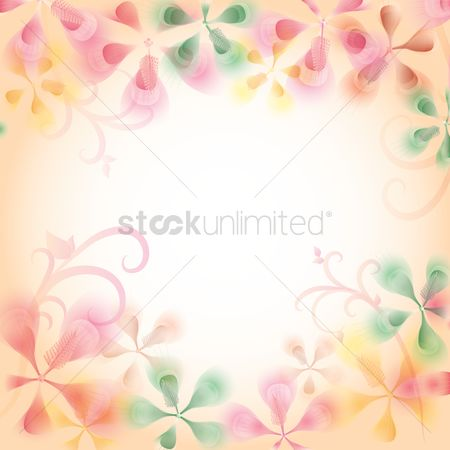 Floral : Abstract floral background