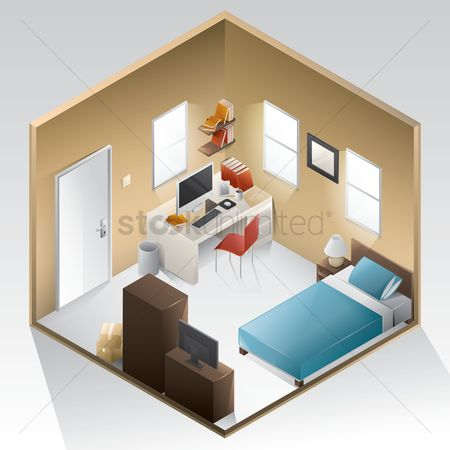 Vectors : Bedroom