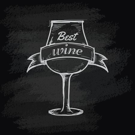Vintage : Best wine glass icon