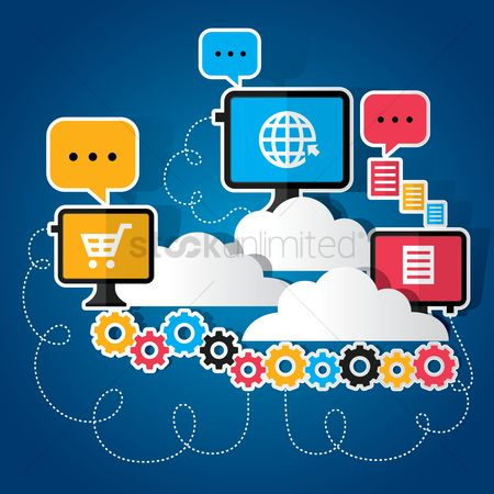 Shopping : Cloud computing concept