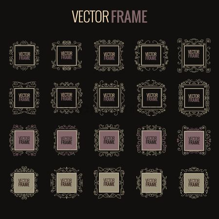 Vintage : Collection of decorative frames