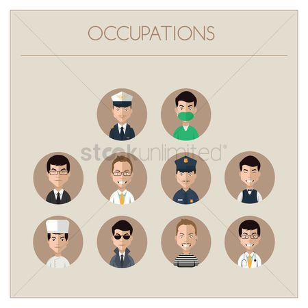 Icons : Collection of people and occupations