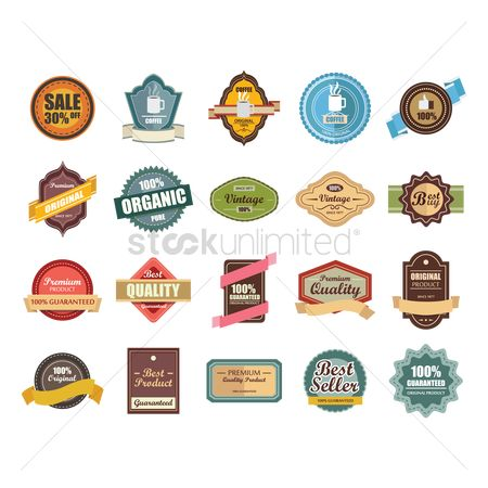 Ribbon : Collection of vintage labels