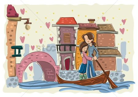 Romantic : Couple on a boat