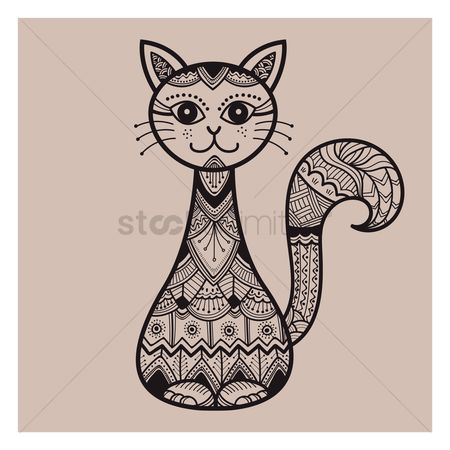 Animal : Decorative cat design
