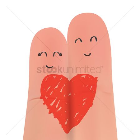 Romantic : Finger couple